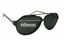 Linda Farrow Raf Simons Replacement Sunglass Lenses - 60mm Wide
