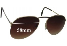 Neostyle Academic 250 Replacement Sunglass Lenses - 58mm Wide