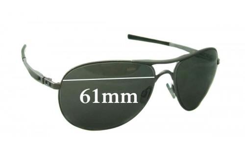 Sunglass Fix Replacement Lenses for Oakley Plaintiff - 61mm Wide