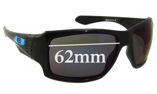Oakley Big Taco Replacement Sunglass Lenses - 62mm Wide