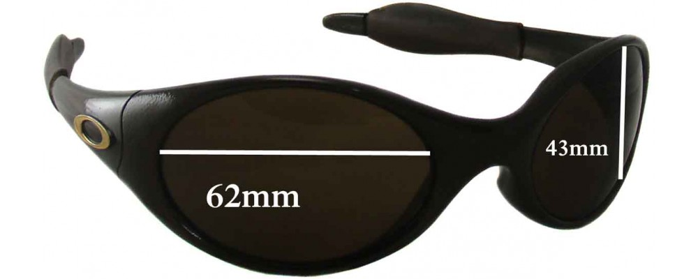 Oakley Eye Jacket Large Replacement Sunglass Lenses 62mm wide
