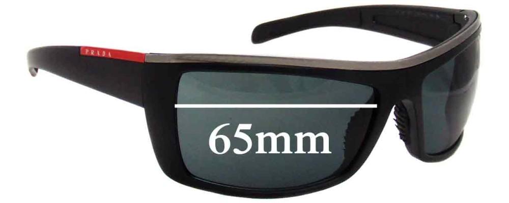 Prada Replacement Sunglass Lenses SPS02h - 65mm Wide