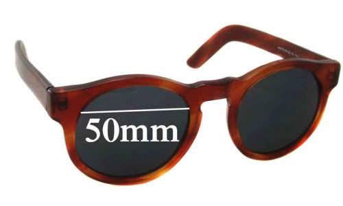 Pagani Round Replacement Sunglass Lenses - 50mm wide