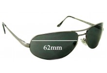 Persol 2283/S Replacement Sunglass Lenses - 62mm wide