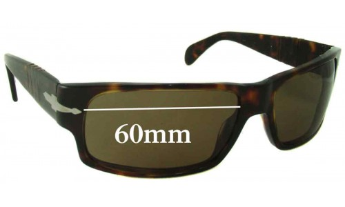 Persol 2720 Replacement Sunglass Lenses - 60mm wide