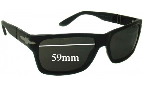 Persol 2913-S New Sunglass Lenses - 59mm wide