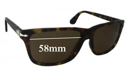 Persol 3026 S Replacement Sunglass Lenses - 58mm Wide