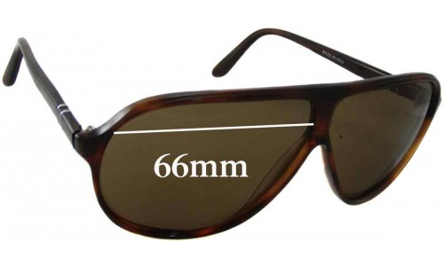 Persol Maflecto Ratti Replacement Sunglass Lenses - 66mm Wide