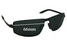 Porsche Design P8417 Replacement Sunglass Lenses - 66mm Wide