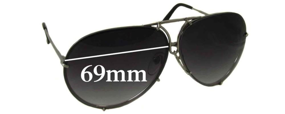 714d6b0b23c Porsche Design P8478 Replacement Sunglass Lenses - 69mm Wide