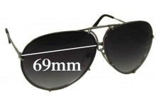 Porsche Design P8478 Replacement Sunglass Lenses - 69mm Wide
