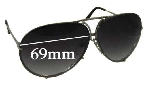 Sunglass Fix Replacement Lenses for Porsche Design P8478 - 69mm Wide