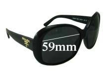 Prada SPR03M Replacement Sunglass Lenses - 59mm lens