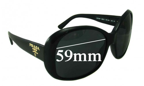 Prada SPR03M Replacement Sunglass Lenses - 59mm lens