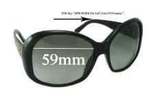 Prada SPR03MS Replacement Sunglass Lenses - 59mm lens