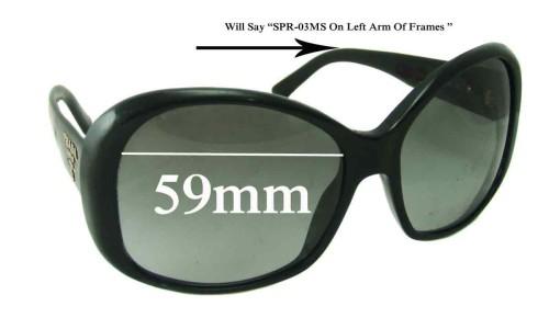 Sunglass Fix Replacement Lenses for Prada SPR03MS - 59mm lens