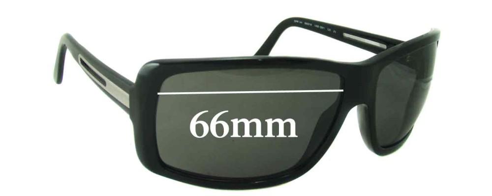 Prada SPR14I Replacement Sunglass Lenses - 66mm wide lens