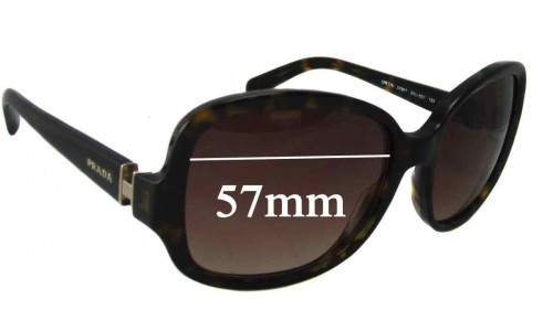 Prada SPR17N Replacement Sunglass Lenses - 57mm wide