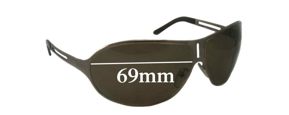 Prada SPR51H Replacement Sunglass Lenses 69MM across