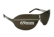 Prada SPR51H Replacement Sunglass Lenses 69MM across