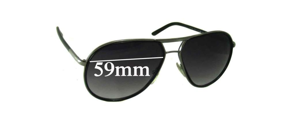 Prada SPR56M Replacement Sunglass Lenses - 59mm wide