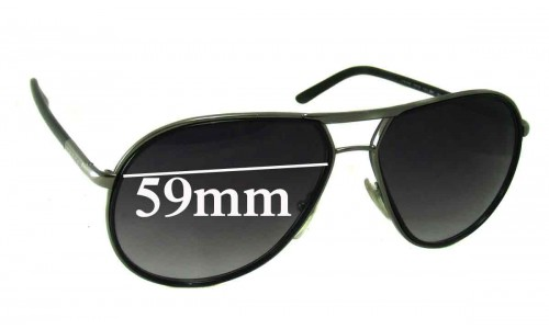 Prada SPR56M Replacement Sunglass Lenses - 59mm wide