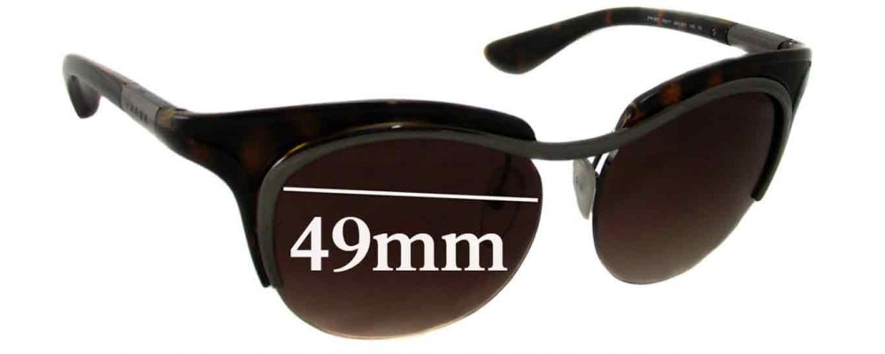 Prada SPR68O Replacement Sunglass Lenses - 49mm Wide
