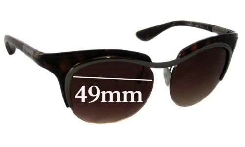 Prada SPR68O Replacement Sunglass Lenses - 49mm Wide