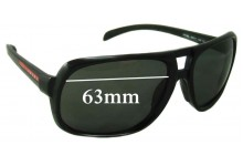 Prada SPS06L Replacement Sunglass Lenses - 63mm wide