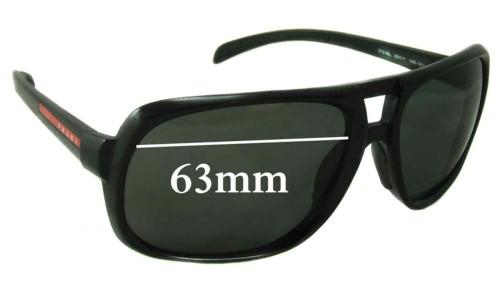 Prada SPS06L Replacement Sunglass Lenses - 63mm wide