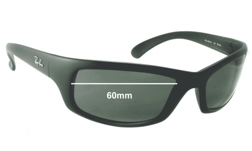 Ray Ban RAJ1554 Replacement Sunglass Lenses - 60mm wide *Please measure your lens as size is not indicated on frames*