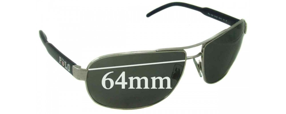 SFX Replacement Sunglass Lenses fits Polo 2094 55mm Wide