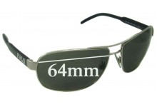 Ralph Lauren Polo 3053 Replacement Sunglass Lenses - 64mm wide