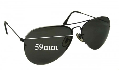 Ray Ban RB3450 Replacement Sunglass Lenses - 59mm Wide