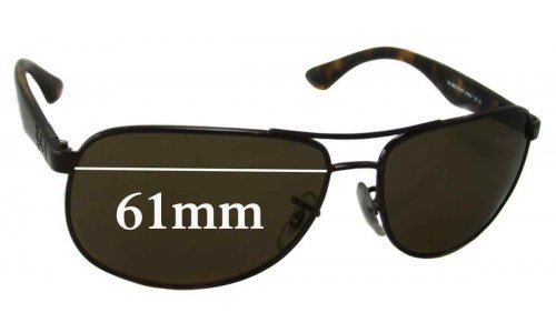 Ray Ban RB3502 Replacement Sunglass Lenses - 61mm wide
