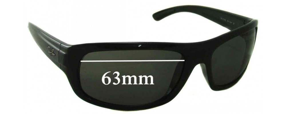 64f1ce2a50 Ray Ban RB4166 Replacement Sunglass Lenses - 63mm Wide