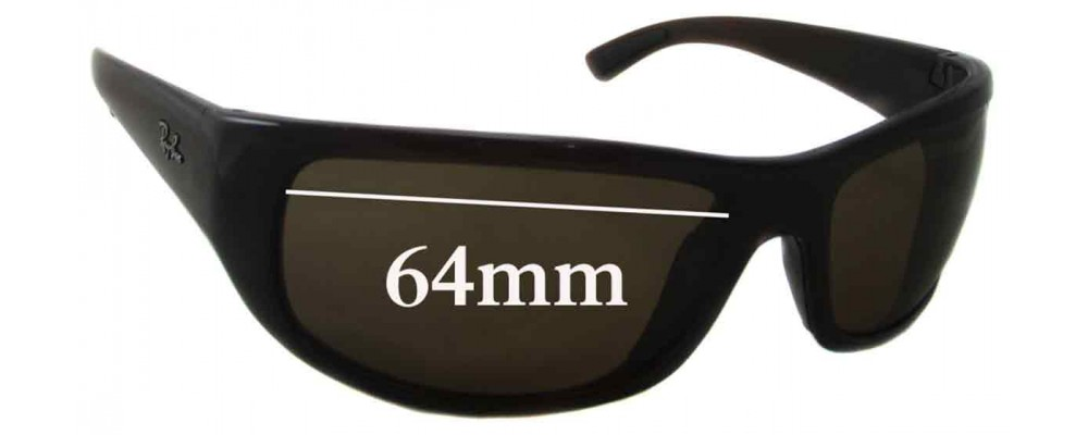 Ray Ban RB4176 Replacement Sunglass Lenses - 64mm wide