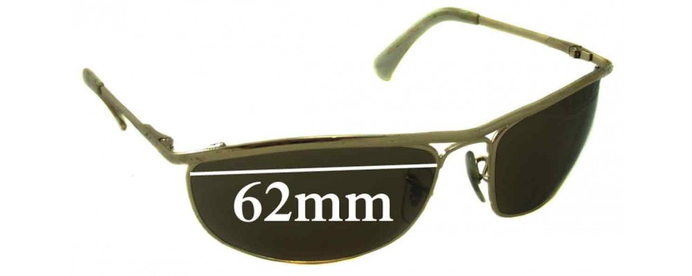 Ray Ban RB3119 Replacement Sunglass Lenses - 62mm wide