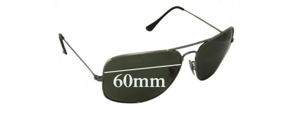 Ray Ban RB3363 Replacement Sunglass Lenses - 60mm wide