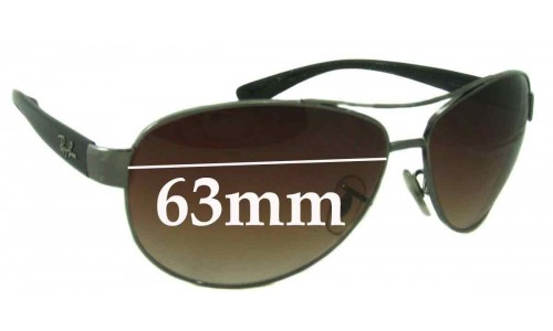 Ray Ban RB3386 Replacement Sunglass Lenses - 63mm wide
