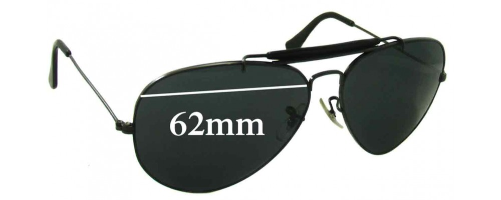 ray ban aviator 62mm replacement lenses polarized