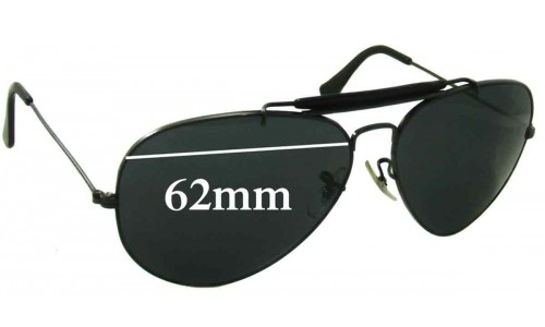 Sunglass Fix Replacement Lenses for Ray Ban RB3407 Bausch Lomb Aviator - 62mm wide