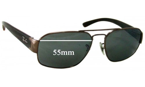 Ray Ban RB3427 Replacement Sunglass Lenses - 55mm Wide