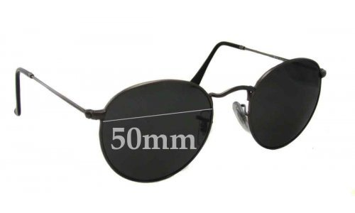 Ray Ban RB3447 Round Metal Replacement Sunglass Lenses - 50mm Wide