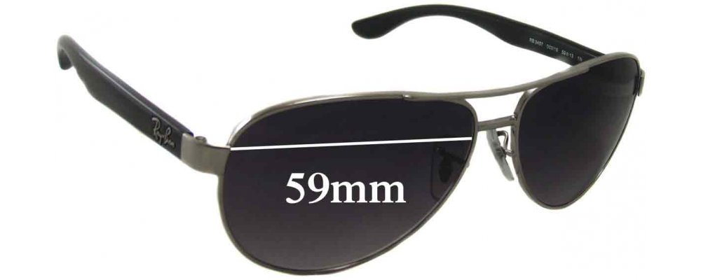 8ede2d1371 Ray Ban RB3457 Replacement Lenses 59mm by The Sunglass Fix®