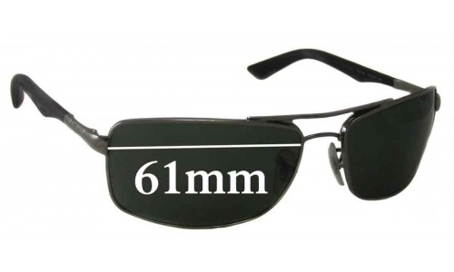 Ray Ban RB3465 Replacement Sunglass Lenses - 61mm Wide