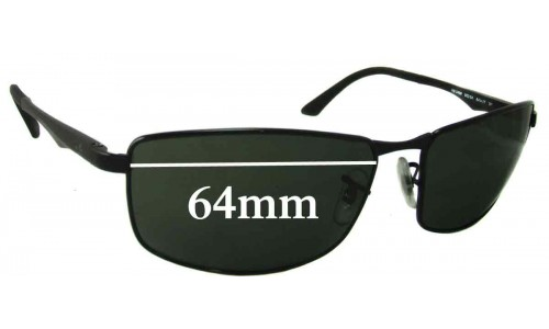 Sunglass Fix Replacement Lenses for Ray Ban RB3498 - 64mm Wide