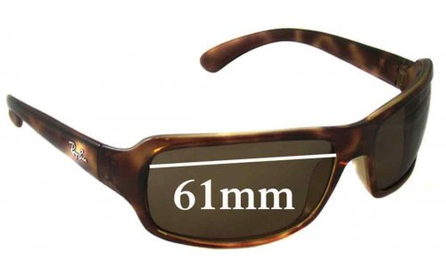 Sunglass Fix Replacement Lenses for Ray Ban RB4075 - 61mm Wide