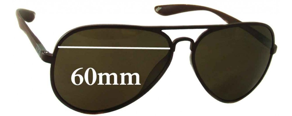 ca99dad1e9a Ray Ban RB4180 Replacement Sunglass Lenses - 60mm Wide