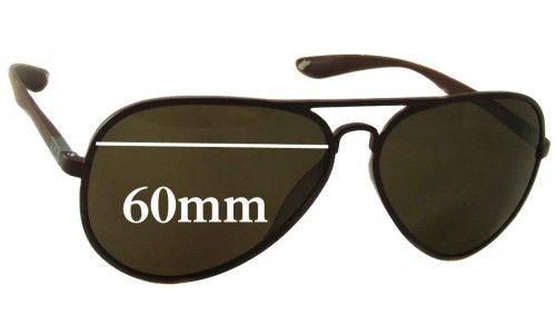 Ray Ban RB4180 Replacement Sunglass Lenses - 60mm Wide